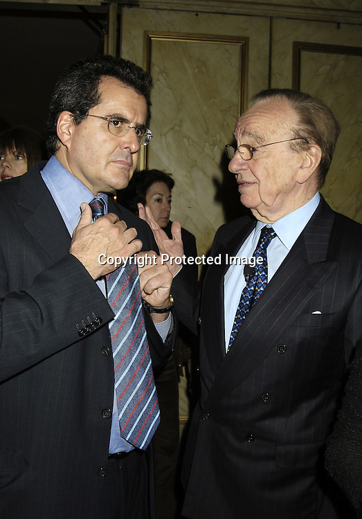 Peter Chernin and Rupert Murdoch ..at the Center for Communications Luncheon honoring Richard Parsons on October 20, 2005 at The Pierre Hotel. ..Photo by Robin Platzer, Twin Images