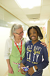 Patients and care givers at NYU's Hassefeld clinic.<br />