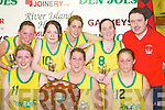 St Marys Ladies Team who won The Senior Ladies Final at the St Marys Christmas Basketball Blitz which was held in the Castleisland Community Centre on Saturday front row L/R: Raidin OLoughlin, Tracey OSullivan, Noelle Scanlon, Back Row: Christine Fleming, Julianne OConnor, Louise Hartnett, Stacey OSullivan, and Tom Connor Coach..