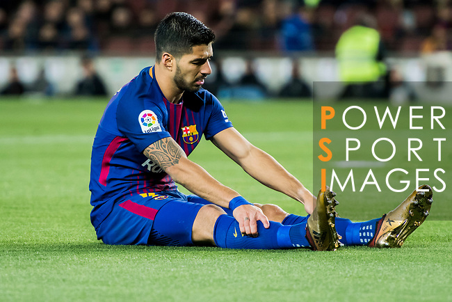 Luis Alberto Suarez Diaz of FC Barcelona reacts as he misses his goal shooting chance during the Copa Del Rey 2017-18 Round of 16 (2nd leg) match between FC Barcelona and RC Celta de Vigo at Camp Nou on 11 January 2018 in Barcelona, Spain. Photo by Vicens Gimenez / Power Sport Images