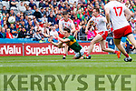 Brian Ó Beaglaoich, Kerry in action against Richard Donnelly, Tyrone during the All Ireland Senior Football Semi Final between Kerry and Tyrone at Croke Park, Dublin on Sunday.