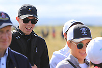 Matthew Fitzpatrick at the 17th during the Foursomes at the Walker Cup, Royal Liverpool Golf CLub, Hoylake, Cheshire, England. 07/09/2019.<br /> Picture Thos Caffrey / Golffile.ie<br /> <br /> All photo usage must carry mandatory copyright credit (© Golffile | Thos Caffrey)