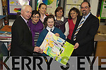 ART AWARD: Mercy Mounthawk student Cathal Doyle received a merit for his submission to the Credit Union National Art competition. Pictured were: Fintan Ryan,  (Manager of Tralee Credit Union), Emma O'Lionaird, Orla O'Shea, Cathal Doyle, Karen Lonergan, Ann O'Shea Daly and John O'Roarke.