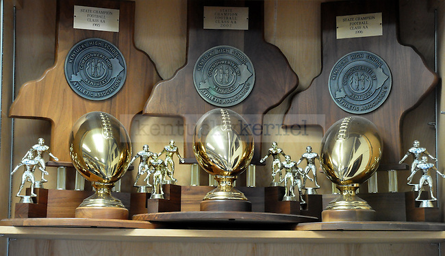 Football is a tradition at Breathitt County High School. The Bobcats claimed three Kentucky Division AA state championships: 1995, 1996 and 2002..Photo by Taylor Moak