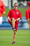 28 February 2017: Washington Nationals Head of Strength & Conditioning Matt Eiden leads a morning workout prior to the Spring Training inaugural game against the Houston Astros at the Ballpark of the Palm Beaches in West Palm Beach, Florida. The Nationals defeated the Astros 4-3 in Grapefruit League play. Mandatory Credit: Ed Wolfstein Photo *** RAW (NEF) Image File Available ***
