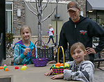 The Lundstrom family during the Easter Egg Hunt at Legends in Sparks, Nevada on Saturday, April 20, 2019.