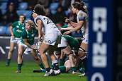 16th March 2018, Ricoh Arena, Coventry, England; Womens Six Nations Rugby, England Women versus Ireland Women; Ailsa Hughes of Ireland clears the ball