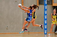 Pulse&rsquo; Karin Burger and Mystics&rsquo; Emma Iversen in action during the Pre Season Tournament - Pulse v Mystics at Ngā  Purapura, Otaki, New Zealand on Saturday 9 February  2019. <br /> Photo by Masanori Udagawa. <br /> www.photowellington.photoshelter.com