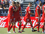 CD Leganes' Luciano Vietto (l) and Pablo Sarabia celebrate goal during La Liga match. October 15,2016. (ALTERPHOTOS/Acero)
