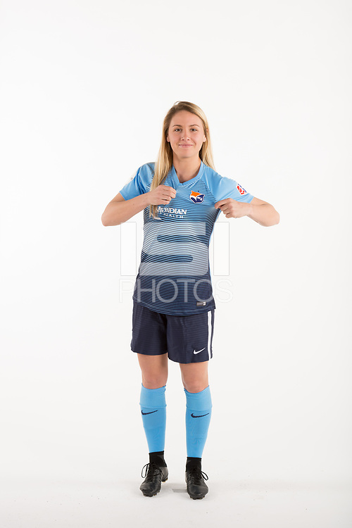 Belmar, NJ - Wednesday March 29, 2017: Alexis McTamney poses for photos at the Sky Blue FC team photo day.