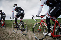 Fabian Cancellara (SUI/Trek-Segafredo) at recon of the 114th Paris - Roubaix