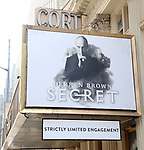 """Theatre Marquee unveiling for """"Derren Brown: Secret"""" on September 11, 2019 at the Cort Theatre in New York City."""