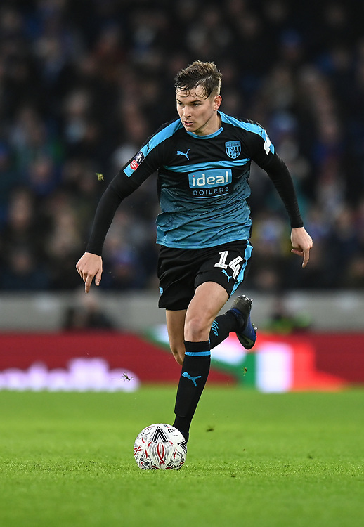 West Bromwich Albion's Conor Townsend<br /> <br /> Photographer David Horton/CameraSport<br /> <br /> Emirates FA Cup Fourth Round - Brighton and Hove Albion v West Bromwich Albion - Saturday 26th January 2019 - The Amex Stadium - Brighton<br />  <br /> World Copyright © 2019 CameraSport. All rights reserved. 43 Linden Ave. Countesthorpe. Leicester. England. LE8 5PG - Tel: +44 (0) 116 277 4147 - admin@camerasport.com - www.camerasport.com