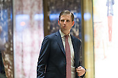 Eric Trump is seen upon his arrival in in the lobby of Trump Tower in New York, NY, USA on January 18, 2017. <br /> Credit: Albin Lohr-Jones / Pool via CNP