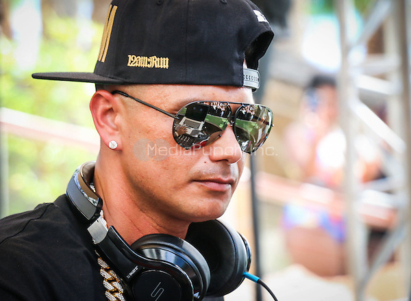 LAS VEGAS, NV - July 12: DJ Pauly D performs at REHAB pool party at Hard Rock Hotel & Casino in Las Vegas, NV on July 12, 2015. Credit: Erik Kabik Photography/ MediaPunch ***HOUSE COVERAGE***
