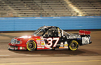 Nov. 13, 2009; Avondale, AZ, USA; NASCAR Camping World Truck Series driver Robbie Brand during the Lucas Oil 150 at Phoenix International Raceway. Mandatory Credit: Mark J. Rebilas-