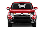 Car photography straight front view of a 2018 Mitsubishi Outlander GT 4WD 5 Door SUV