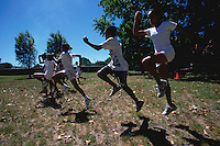 FEB 1999 - STELLENBOSCH, SOUTH AFRICA - South African triathlon hopefuls training. (PHOTO (C) NIGEL FARROW)