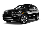 Stock pictures of low aggressive front three quarter view of a 2017 BMW X5 xDrive35d 5 Door SUV