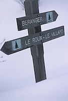 Europe/France/Rhone-Alpes/73/Savoie/Saint-Martin-de-Belleville: Panneaux fléchant les 22 hameaux faisant partie de la commune
