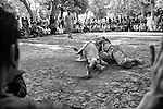 Afghan men wrestle in Shar-I Now park, 31 August 2012. (John D McHugh)