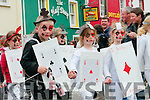Playing cards... Féile na Bealtaine parade along the streets of Dingle over the weekend.
