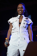 "Largo, MD - July 12, 2014: Rozonda ""Chilli"" Thomas, of the Grammy award winning group TLC, performs at the 1st annual International Festival at the Largo Town Center in Largo, MD, July 12, 2014. The group is known for its hit songs ""Creep"" and ""Scrubs."" (Photo by Don Baxter/Media Images International)"