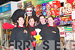 Staff from Greaney's Spar Store take time out for a picture with Mickella at the opening on Saturday. ...   Copyright Kerry's Eye 2008