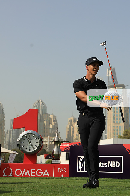 Thorbjorn Olesen (DEN) during the third round of the Omega Dubai Desert Classic, Emirates Golf Club, Dubai, UAE. 26/01/2019<br /> Picture: Golffile | Phil Inglis<br /> <br /> <br /> All photo usage must carry mandatory copyright credit (© Golffile | Phil Inglis)