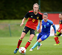 20170914 - TUBIZE ,  BELGIUM : Belgian Tessa Wullaert pictured during the friendly female soccer game between the Belgian Red Flames and European Champion The Netherlands , a friendly game in the preparation for the World Championship qualification round for France 2019, Thurssday 14 th September 2017 at Euro 2000 Center in Tubize , Belgium. PHOTO SPORTPIX.BE | DAVID CATRY
