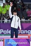 Ä Shogo Nonomura (JPN), <br /> AUGUST 20, 2018 - Artistic Gymnastics : Men's Individual All-Around Medal Ceremony at JIEX Kemayoran Hall D during the 2018 Jakarta Palembang Asian Games in Jakarta, Indonesia. <br /> (Photo by MATSUO.K/AFLO SPORT)