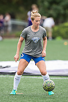 Allston, MA - Sunday July 31, 2016: Natasha Dowie prior to a regular season National Women's Soccer League (NWSL) match between the Boston Breakers and the Orlando Pride at Jordan Field.