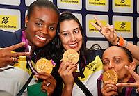 Fabiana,Sheila e Fabi Jogadoras da seleção brasileira feminina de vôlei, durante entrevista coletiva nesta SEGUNDA-FEIRA (13)  no Hotel Marriot Guarulhos.FOTO ALE VIANNA/BRAZIL PHOTO PRESS