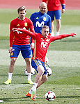 Spain's Nacho Monreal (l) and Gerard Deulofeu during training session. March 21,2017.(ALTERPHOTOS/Acero)