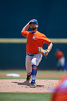 St. Lucie Mets pitcher Luc Rennie (33) during a Florida State League game against the Bradenton Marauders on July 28, 2019 at LECOM Park in Bradenton, Florida.  Bradenton defeated St. Lucie 7-3.  (Mike Janes/Four Seam Images)
