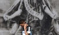 SÃO PAULO,SP, 06 julho 2013 -   Paolo Guerrero durante treino do Corinthians no CT Joaquim Grava na zona leste de Sao Paulo, onde o time se prepara  para para enfrenta o Bahia pelo campeonato brasileiro . FOTO ALAN MORICI - BRAZIL FOTO PRESS