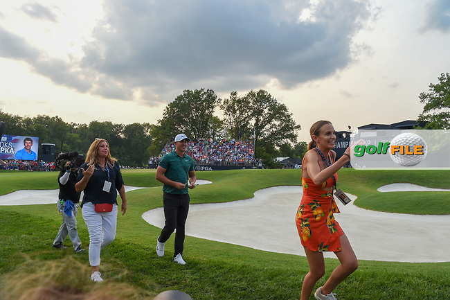 Brooks Koepka (USA) departs 18 after winning the 100th PGA Championship at Bellerive Country Club, St. Louis, Missouri. 8/12/2018.<br /> Picture: Golffile | Ken Murray<br /> <br /> All photo usage must carry mandatory copyright credit (© Golffile | Ken Murray)