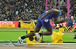Fred KERLEY (USA) starts  the mens 400m final. IAAF world athletics championships. London Olympic stadium. Queen Elizabeth Olympic park. Stratford. London. UK. 08/08/2017. ~ MANDATORY CREDIT Garry Bowden/SIPPA - NO UNAUTHORISED USE - +44 7837 394578