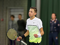March 8, 2015, Netherlands, Rotterdam, TC Victoria, NOJK, Amadatis Admiraal wins boys 16 years<br /> Photo: Tennisimages/Henk Koster