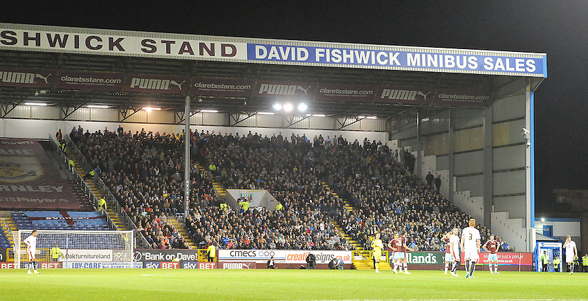 The Fishwick Stand is full of Burnley fans for a refreshing change<br /> <br /> Photographer Dave Howarth/CameraSport<br /> <br /> Football - The Football League Sky Bet Championship - Burnley v Milton Keynes Dons - Tuesday 15th September 2015 - Turf Moor - Burnley<br /> <br /> &copy; CameraSport - 43 Linden Ave. Countesthorpe. Leicester. England. LE8 5PG - Tel: +44 (0) 116 277 4147 - admin@camerasport.com - www.camerasport.com