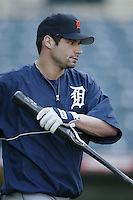 Bobby Higginson of the Detroit Tigers before a 2002 MLB season game against the Los Angeles Angels at Angel Stadium, in Anaheim, California. (Larry Goren/Four Seam Images)