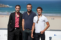 French actors Romain Depret, Jules Ritmanic and Director Cedric Khan present the film: 'Wild Life' during the 62st San Sebastian Film Festival in San Sebastian, Spain. September 26, 2014. (ALTERPHOTOS/Caro Marin) /NortePhoto.com