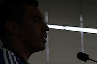 SÃO PAULO,SP - 03.02.14 - TREINO SE PALMEIRAS - O jogador Lucio, durante entrevista coletiva no Centro de Treinamento do Palmeiras, na Barra Funda, zona oeste da capital paulista, na tarde desta segunda-feira, 03(Foto: Geovani Velasquez / Brazil Photo Press)