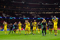 Borussia Dortmund players during the match between Atletico de Madrid and Borussia Dortmund of UEFA Champions League 2018-2019, group A, date 4 played at the Wanda Metropolitano Stadium. Madrid, Spain, 6 NOV 2018.