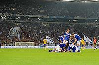 FUSSBALL   EUROPA LEAGUE   SAISON 2011/2012   Play-offs FC Schalke 04 - HJK Helsinki                                25.08.2011 Schalker Jubel nach dem 5:1 in der Veltins-Arena