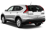 Rear three quarter view of a 2012 Honda CRV EX