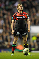 Owen Farrell of Saracens during the Heineken Cup quarter final match between Saracens and Ulster Rugby at Twickenham Stadium on Saturday 6th April 2013 (Photo by Rob Munro)