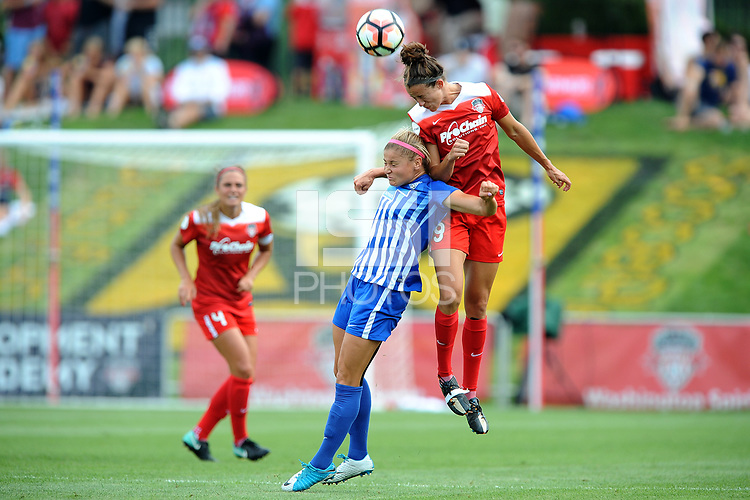 Boyds, MD - Saturday August 12, 2017: Rosie White, Havana Solaun during a regular season National Women's Soccer League (NWSL) match between the Washington Spirit and the Boston Breakers at Maureen Hendricks Field, Maryland SoccerPlex.