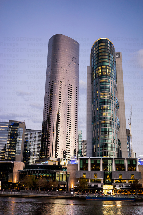 Crown Tower and Preima Pearl Apartments in Melbourne Australia
