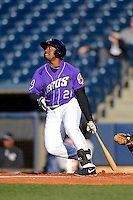 Akron Aeros outfielder Quincy Latimore #22 during a game against the Trenton Thunder on April 22, 2013 at Canal Park in Akron, Ohio.  Trenton defeated Akron 13-8.  (Mike Janes/Four Seam Images)